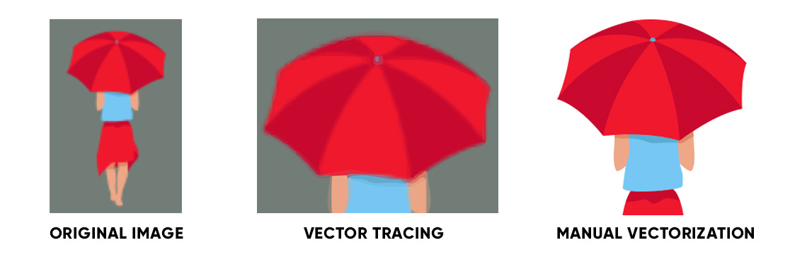 Deformed strokes and odd shapes at vector conversion