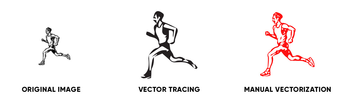 Vector conversion of small and blurry images
